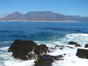 Table Mountain and Cape Town, seen from Robben Island